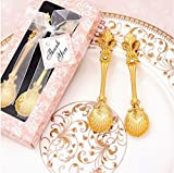 Golden couple coffee spoon two-piece (Couples coffee spoon-Golden)