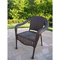 Trend Oakland Living Elite Resin Wicker Chair in Coffee Finish
