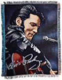 The Northwest Company Elvis 68 Leather Sitting Tapestry Throw, 48 by 60-Inch