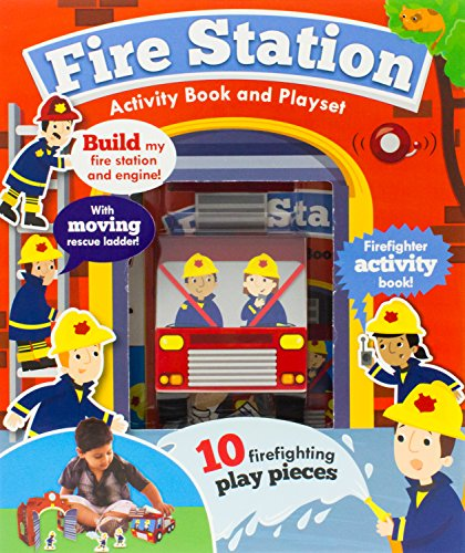 Fire Station Activity Book and Playset (Create It Boxset)