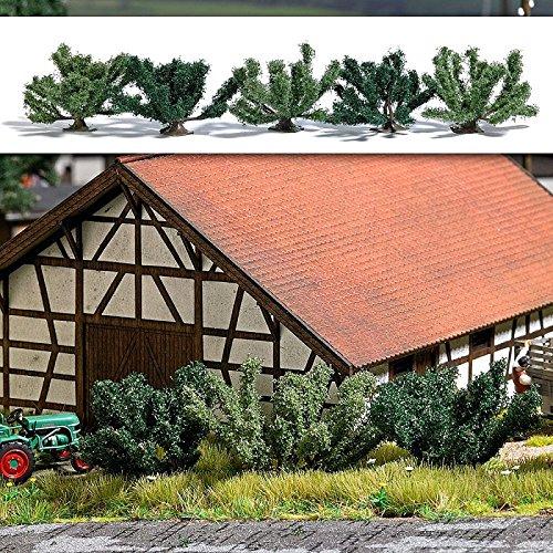 Busch 6061 Summer Bushes HO Scale Assembled Package of 5 Assembled Bush