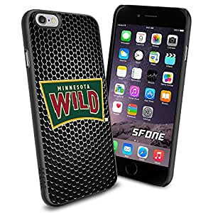 Minnesota Wild Black Iron Net WADE1612 Hockey iPhone 6 4.7 inch Case Protection Black Rubber Cover Protector