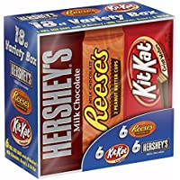 Hershey's Chocolate Variety Pack 18 Count 27.3 Ounce Box