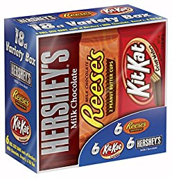 Hershey\'s Chocolate, Variety Pack, 18 Count, 27.3 Ounce Box