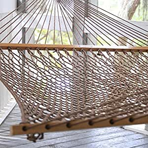 Pawley's Island Original Collection Presidential Size Duracord Rope Hammock, Antique Brown
