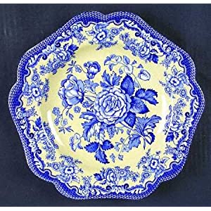 Spode Blue Room Garden Collection (Yellow Bck) Buffet/Dessert Plate