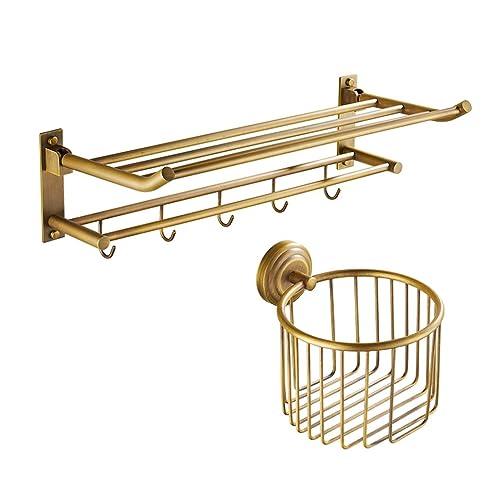 Rame antico portasciugamani riscaldato/ cremagliera Retro asciugamano/accessori bagno hardware europee-B