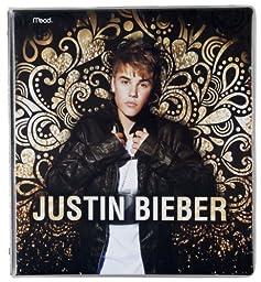 Mead Justin Bieber 1-Inch  Heat Sealed Binder, Gold Swirl (72086)