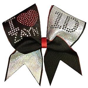 Amazon.com : Chosen Bows My Fav 1D Boy Zayn Cheer Bow : Cheerleading