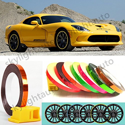 Green Stripe Wheel Reflective Tape Decorative