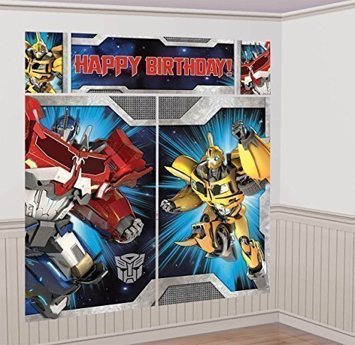Transformers Scene Setter Wall Decorations Kit - Kids Birthday and Party Supplies Decoration - 1