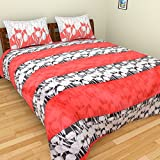 Bichauna By Portico Cotton Double Bedsheet With 2 Pillow Covers - Modern, Multicolour