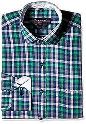 Dennison Men's Formal Shirt (SS-16-394_42_Green)