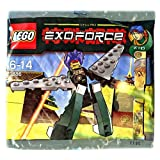 LEGO Exo Force Mini Figure Set #3886 Green Exo Fighter Ryo Walker Bagged