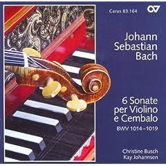Bach, J.S.: Sonatas Nos. 1-6 For Violin And Harpsichord (Busch, Johannsen)