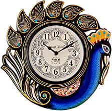 Vintage Clock Peacock Blue Wall Clock