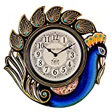 Vintage Clock Peacock Blue Wall Clock