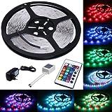 LED-Strip-Licht-Streifen-5m-Band-Leiste-mit-300-LEDs-SMD-3528-inkl-Netzteil-Fernbedienung