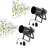 CHAUVET DJ Funfetti Shot Professional Special Event Confetti Launcher and Remote (2 Pack)