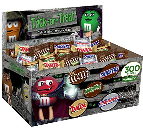 MARS Chocolate Halloween Variety Box, 300 Count