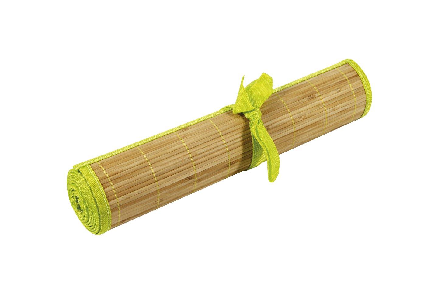 Ambiance Nature Camino De Mesa Bambú Con Ribete Color Verde Anis   Comentarios y más información