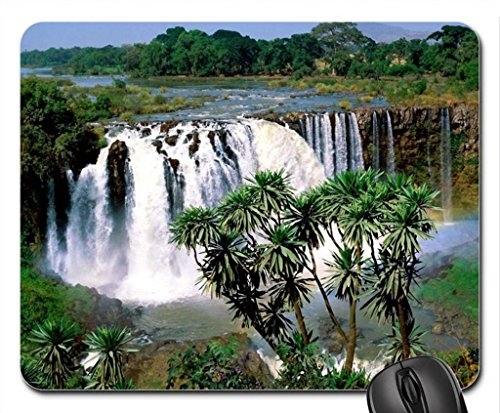Abay Mouse Pad, tappetino per Mouse, motivo: cascate Mouse Pad