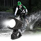 Duomishu Fahrrad Frontlicht aufladbar fahrradbeleuchtung 1200 Lumen wasserdichtt Fahrradlampe LED