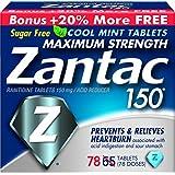 Zantac 150 Maximum Strength Tablets, Cool Mint, 78 Count