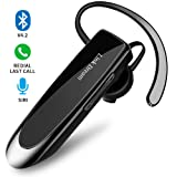 Bluetooth Earpiece Link Dream Wireless Headset with Mic 24Hrs Talktime Hands-Free in-Ear Headphone Compatible with iPhone Samsung Android Smart Phones, Driver Trucker (Black) (Color: BLACK)
