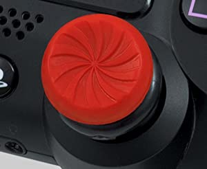 KontrolFreek FPS Freek Inferno for Playstation 4 (PS4) Controller | Performance Thumbsticks | 2 High-Rise Concave | Red