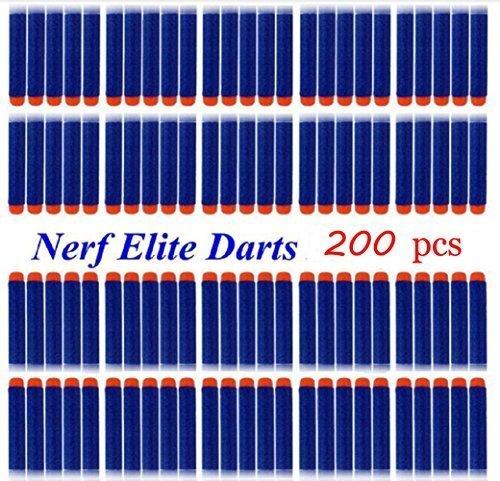 Refill Pack 200pcs Toy Gun Bullet Darts Round Head for Children Blasters Nerf N-strike (Blue) (35 Round Nerf compare prices)