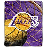 NBA Reflect Plush Throw NBA Team: Los Angeles Lakers Amazon.com