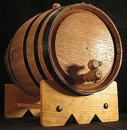 5L American Oak Barrel with Black Bands (5lb)