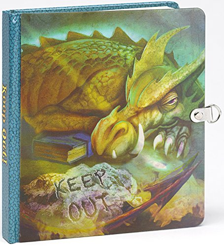 Peaceable Kingdom Keep Out! Dragon Picture-Changing Cover Lock and Key Diary