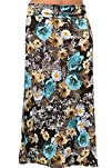 DHStyles Womens Plus Size Sexy Abstract Floral Print Fitted