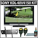 Sony Bravia V-Series KDL-40V4150 40-inch 1080p LCD HDTV + Accessory Bundle w/ 3 Year Extended Warran