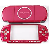 NEW Replacement Sony PSP 3000 Console Full Housing Shell Cover With Button Set -Red