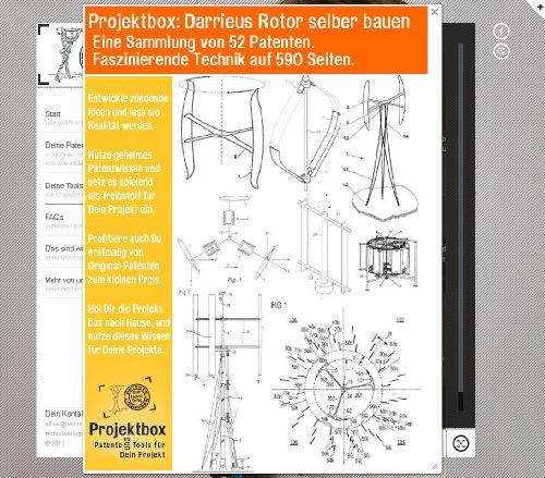 darrieus rotor selber bauen deine projektbox inkl 52 original patenten bringt dich mit spa. Black Bedroom Furniture Sets. Home Design Ideas