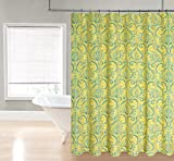 HLC.ME Paisley Damask Fabric Shower Curtain (Yellow)