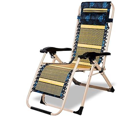 Ali Silla gruesa de la tarde / silla de bambú plegable / silla de verano al aire libre de la oficina / silla de playa