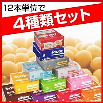 ソイジョイ レーズンアーモンド カカオオレンジ バナナCaプラス ブルーベリー 4種類セット