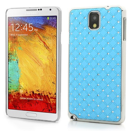 Jujeo Diamond Starry Sky For Samsung Galaxy Note 3 N9000 N9005 Hard Skin Case - Non-Retail Packaging - Blue