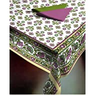Ocean Collections Panache Collection Floral Print Cotton Table Cover (60'X90')