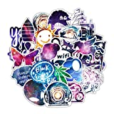 100 PCS Galaxy Stickers for Car, Laptop, Skateboard, Luggage, Waterproof Vinyl Decals for Motorcycle, Bicycle, Bumper (Color: 100G, Tamaño: mix)