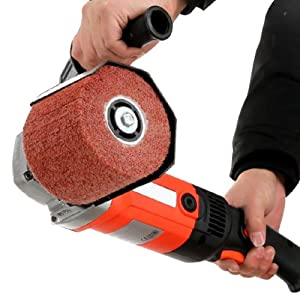 DENHSINE Burnishing Polishing Machine Polisher Handheld Sander with 2 Polishing Wheels 110V - Shipping from USA (Color: Shown as the picture)