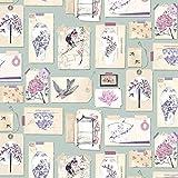 Heather / Duck Egg - 97931 - Takaria - Vintage - Oriental - Birds - Statement - Holden Decor Wallpaper