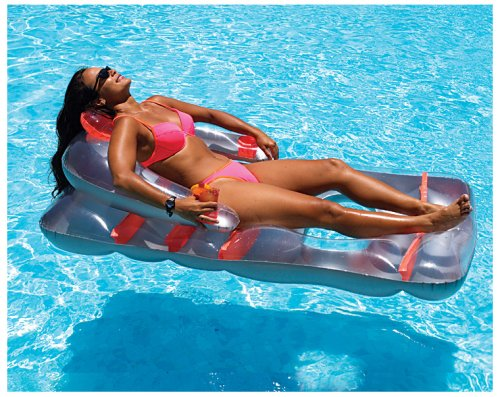 Intex Sit 39 N Float Classic Inflatable Raft Swimming Pool Lounge Blue Home Garden Spa Spa
