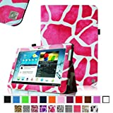 Fintie Slim Fit Folio Case Cover for Samsung Galaxy Tab 2 10.1 inch Tablet - Giraffe Magenta