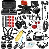 VanteexPro 68-in-1 Sports Accessories Kit for Gopro Hero 6 5 4 3+ 3 2 1, Action Camera Accessories for AKASO EK7000/ SJCAM/ DBPOWER/ APEMAN/ Lightdow/ Xiaomi Yi