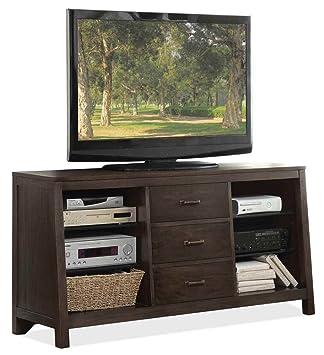 Riverside Furniture Promenade Canted TV Console in Warm Cocoa